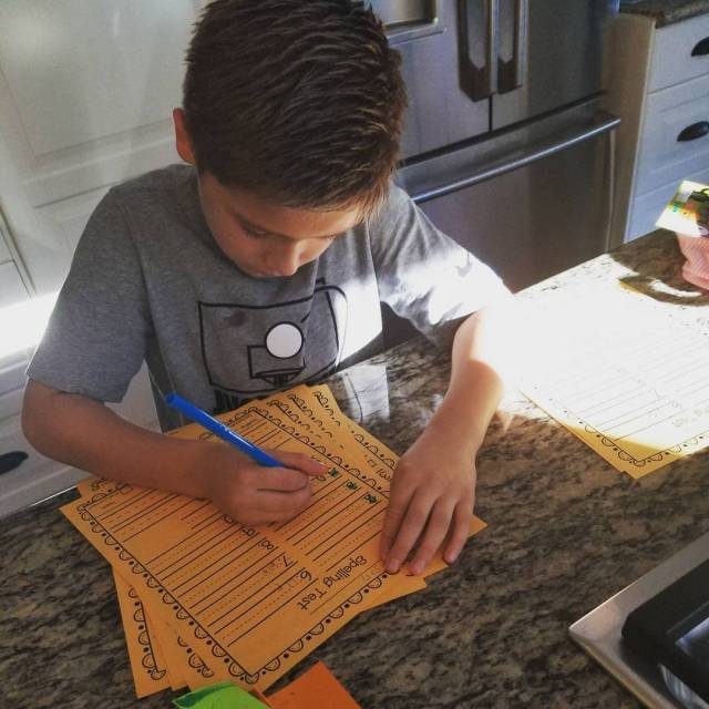 Got this kid grading spelling tests! nice teacherskid iteachfirst teachersofinstagramhellip