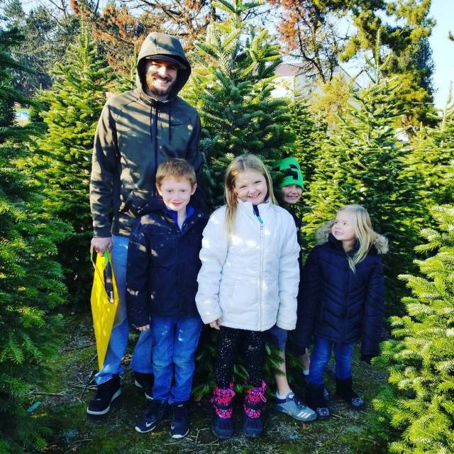 Hunting for that perfect tree with my favorite people!
