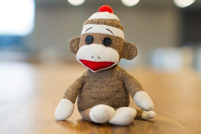 Sock Monkey Stuffed Animal