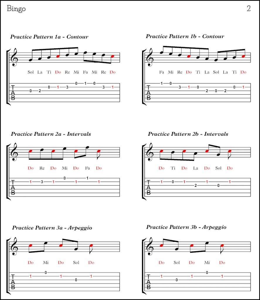 Bingo Scale Sheet Page 2