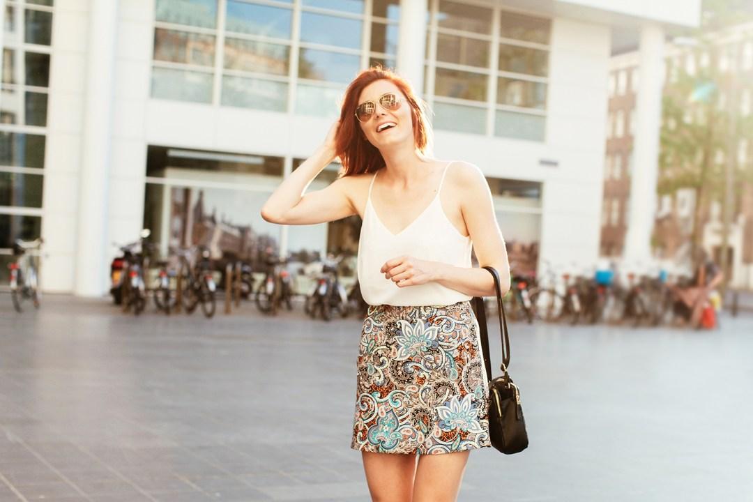 Blue Pelmet Skirt