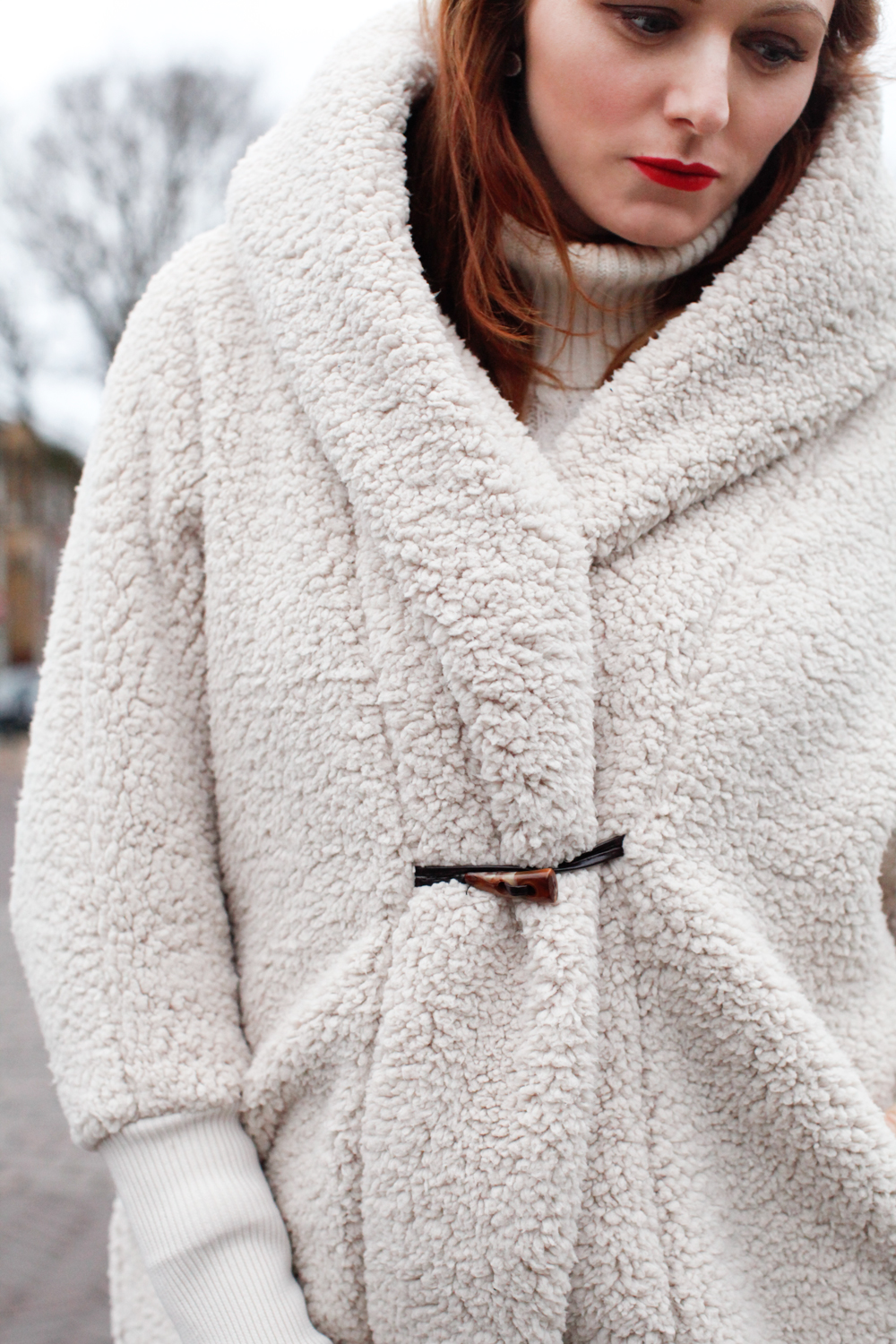 Fluffy coat to keep you warm
