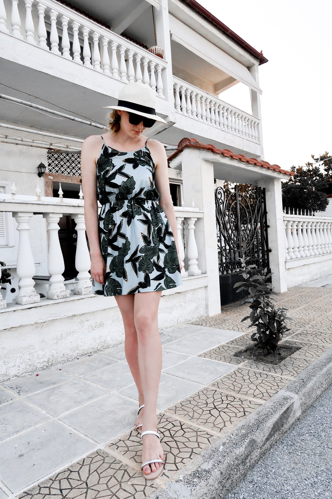 Tropical prints dress