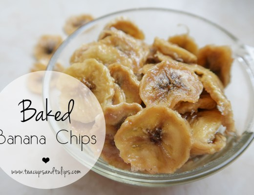 baked banana chips recipe