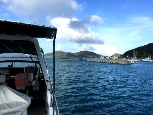 渡名喜島ダイビングの様子