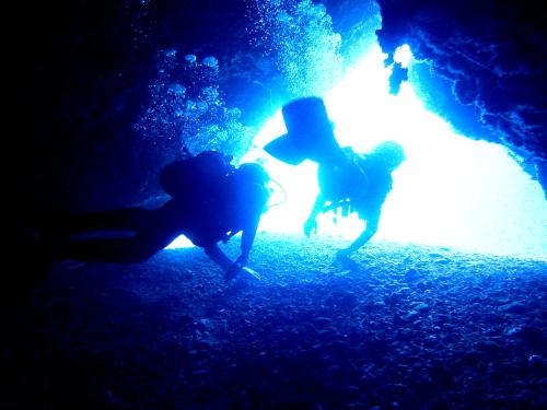 慶良間光の洞窟体験ダイビング