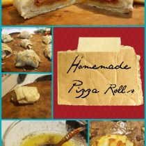 super simple homemade pizza rolls