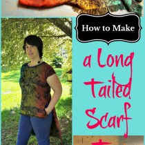 long tailed scarf top