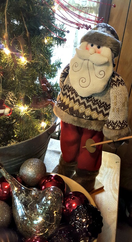 Tabletop Tomato Cage Christmas Tree ~ Teadoddles