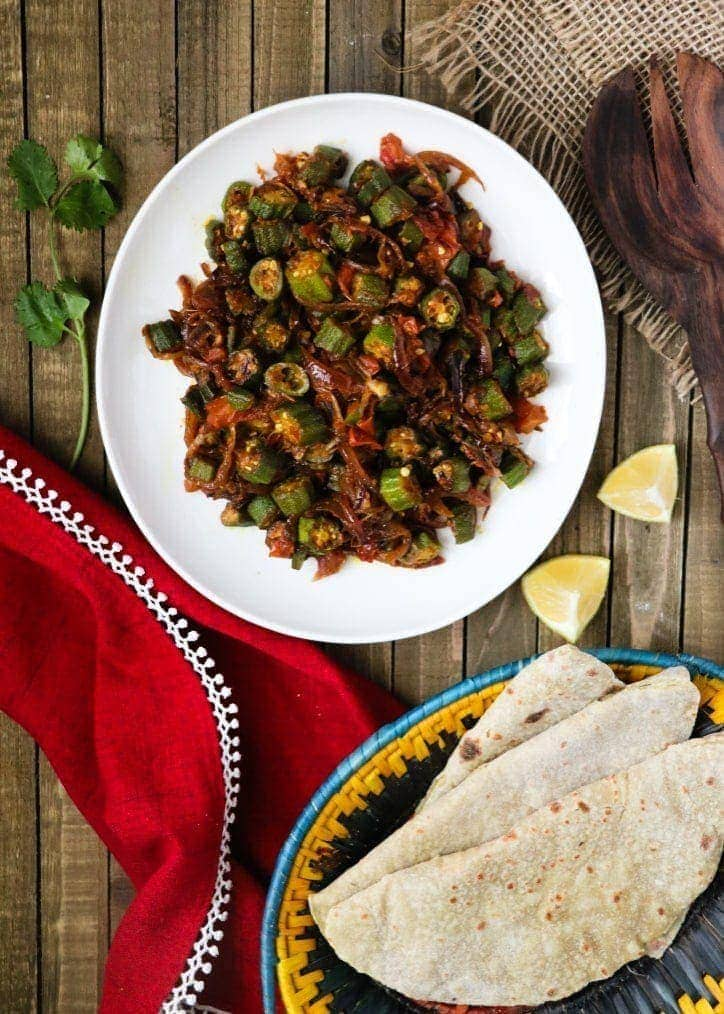 Bhindi Pyaaz | Stir-Fried Okra and Onion Curry