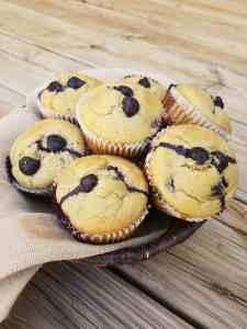 Blueberry Banana Blender Muffins
