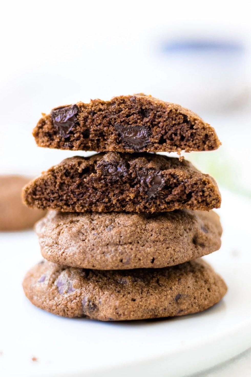 Double Chocolate Cardamom Cookies - Gluten-Free