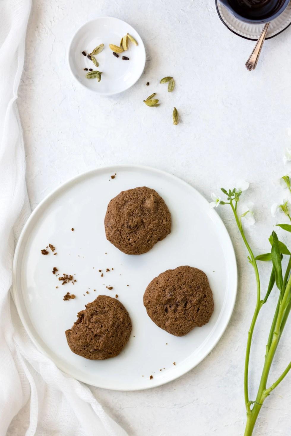 Gluten-Free Double Chocolate Cardamom Cookies