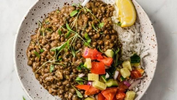 Lentil Dal in a plate