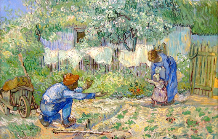 Photo Wallpaper Love, Child, Picture, Family, Father, - Van Gogh Love  Paintings - 1332x850 Wallpaper - teahub.io