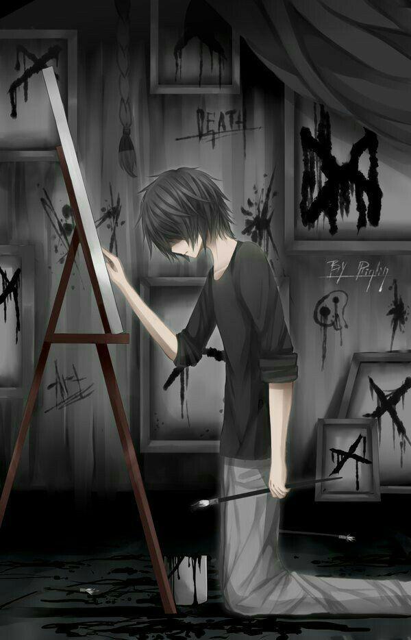 Sad Boy Hd Wallpaper Anime Sad Boy Wallpaper 4k 600x934 Wallpaper Teahub Io
