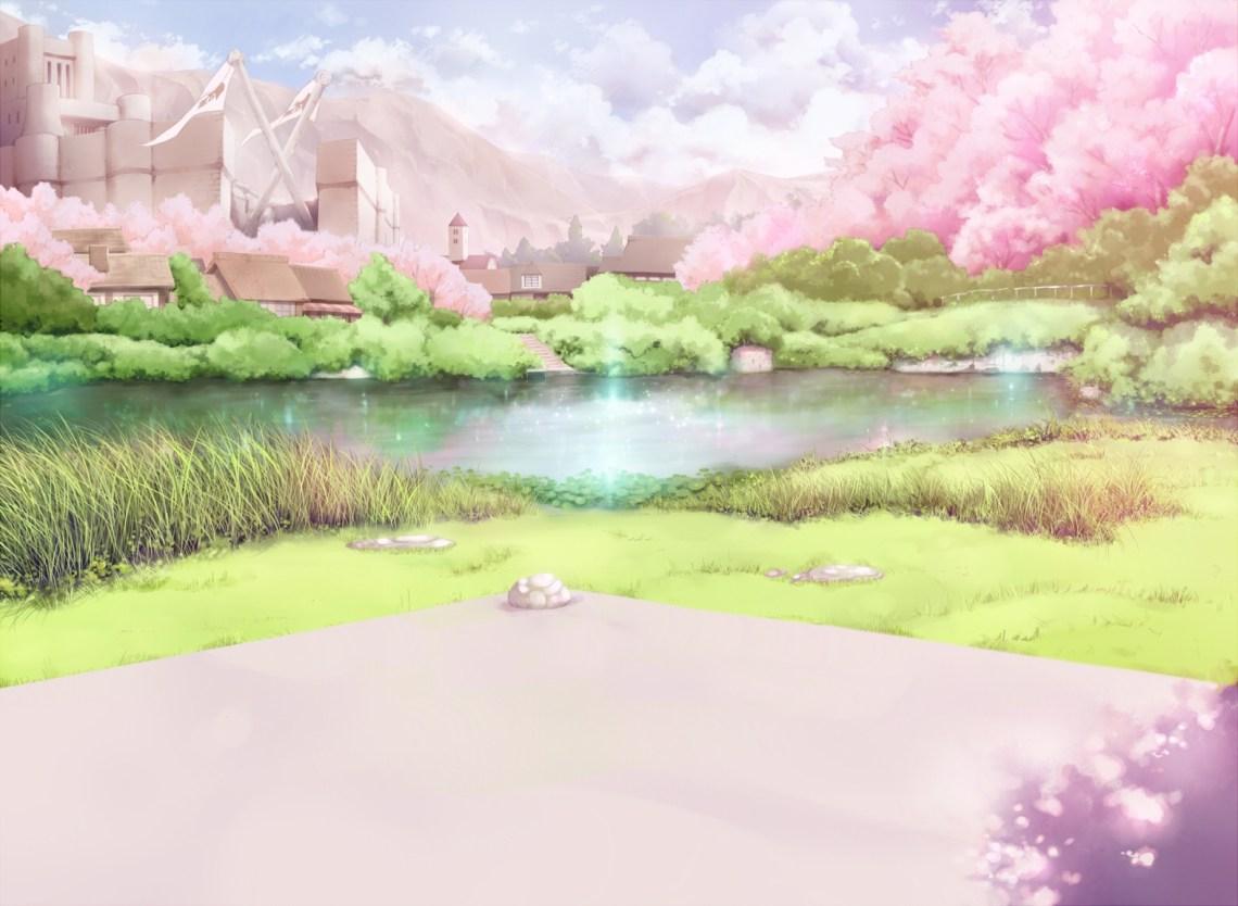 Anime Cherry Blossom Scenery 1574x1152 Wallpaper Teahub Io