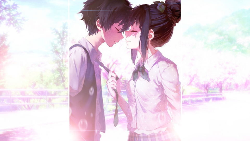 Iphone Anime Wallpaper Couple Love 960x544 Wallpaper Teahub Io