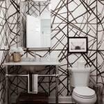 Modern Wallpaper Powder Room 1738x2560 Wallpaper Teahub Io