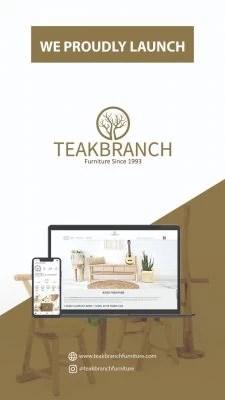 Boho furniture with teak branch furniture