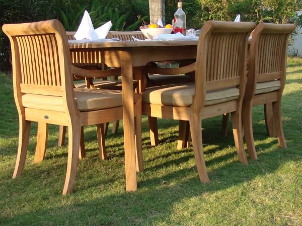 teak outdoor patio furniture sets 7 PC TEAK DINING SET GARDEN OUTDOOR PATIO FURNITURE GIVA