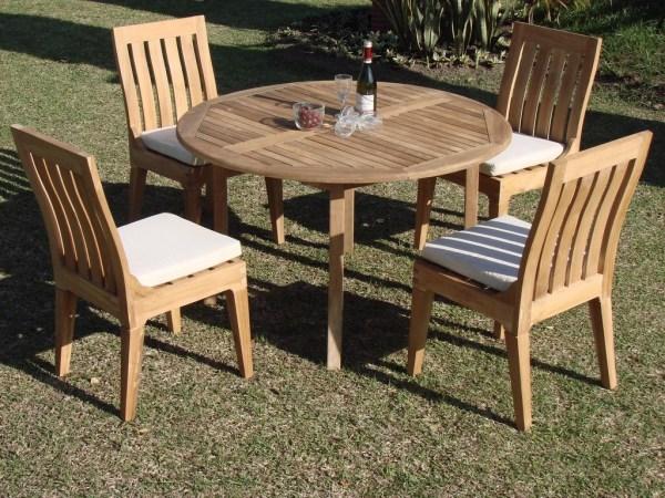 teak outdoor patio furniture sets 5 PC DINING TEAK SET GARDEN OUTDOOR PATIO FURNITURE POOL