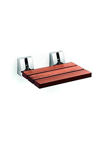 LB Scagni Folding Shower Seat in Teak Solid Wood, Fold Down Spa ...
