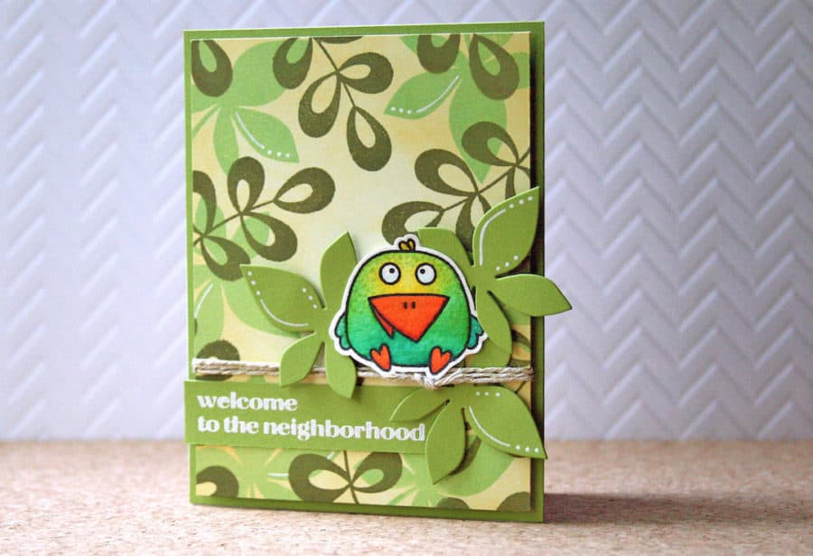 Coloring to stretch your stamps - from cardinal to parakeet!