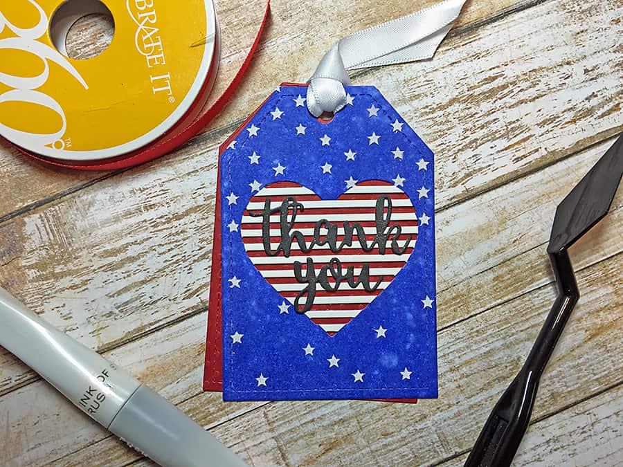 USA patriotic tag