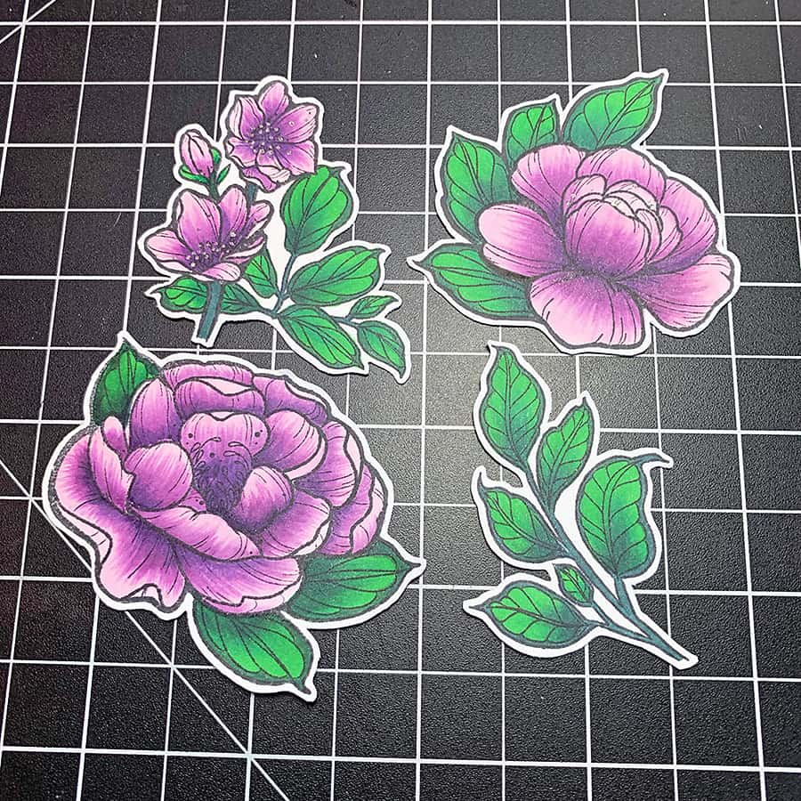 Coloring Peonies with Copic Sketch Markers