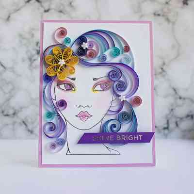 Embellishing a Handmade Card with Quilling Elements