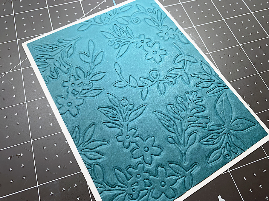 Finished die emboss - Spellbinders Large Die of the Month | Fall Flora