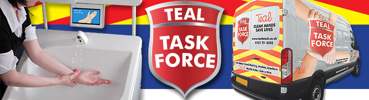 Teal Task Force mobile hand washing