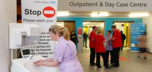 Portable hand washing stations for hospitals