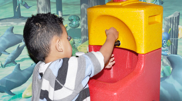 Portable hand washing for school children