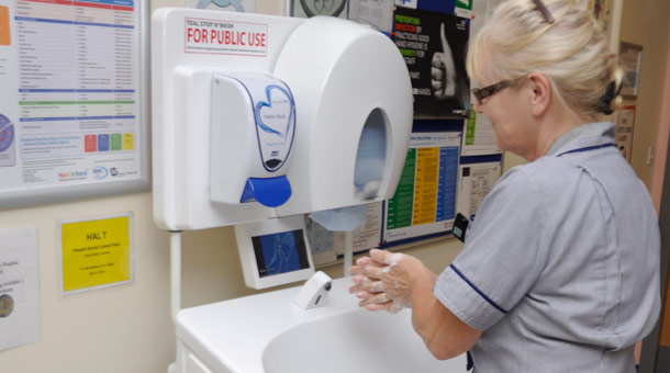 Hot water hand wash hire for UK medical situations