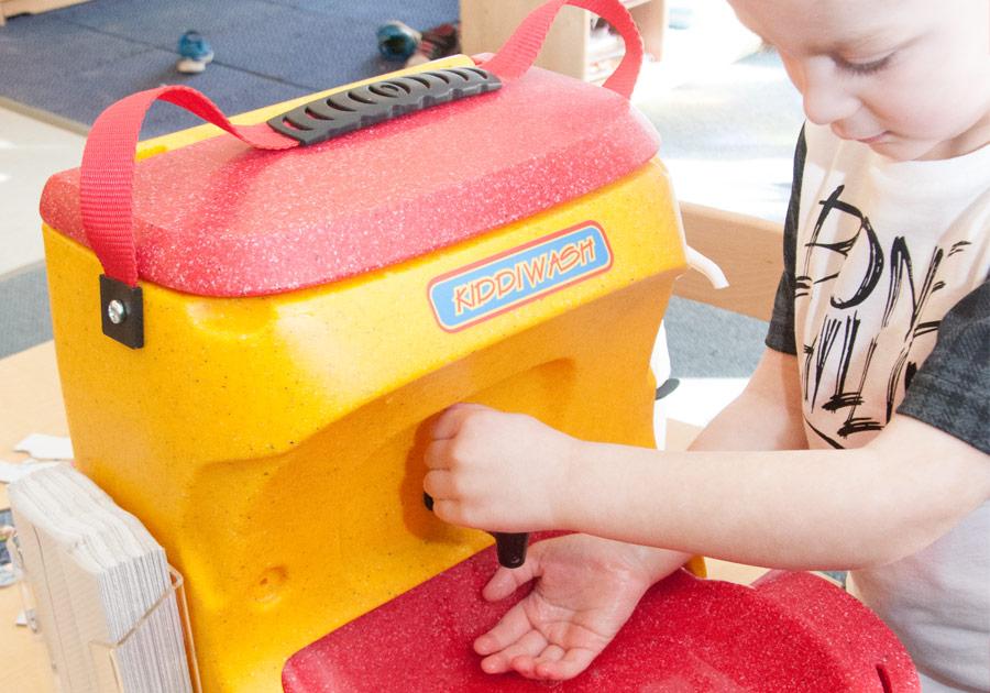 Preschool hand washing for children