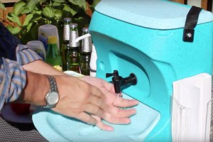 Mobile hand washing facilities for caterers