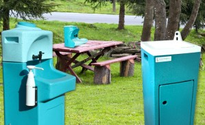 Teal portable sinks and basins at Farm Business Innovation