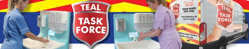 Task Force mobile hand wash hire for medical facilities