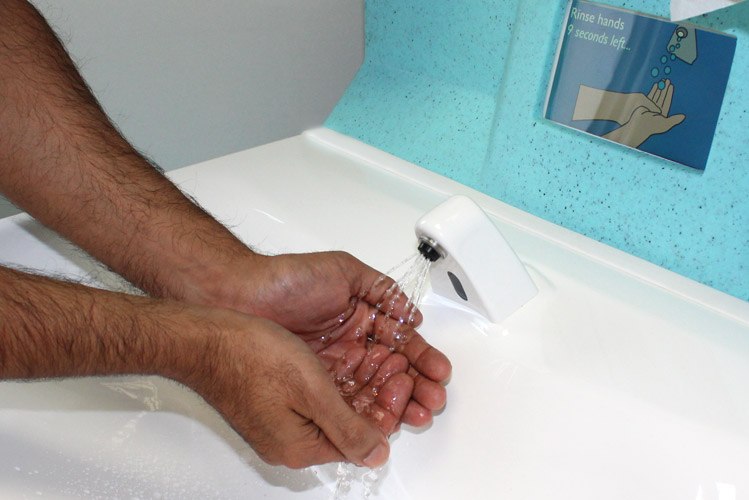 Handwashing with soap and water controls norovirus