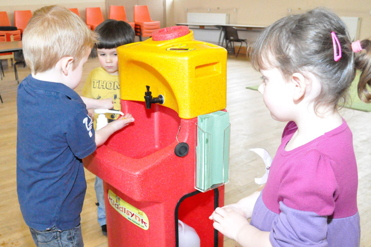 Teaching handwashing to children to reduce Hepatitus A spread