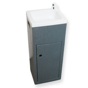 Teal Stallette hand wash unit in grey