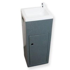 Teal Stallette hand wash unit in grey