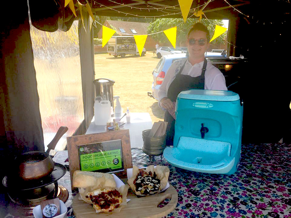 Bake My Brie street food with TEAL mobile sinks