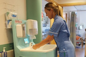 Hand hygiene with Teal portable hand wash units as part of an infection prevention strategy