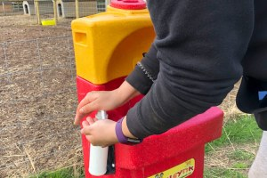Portable hand washing sink by Teal at Kew Little Pigs