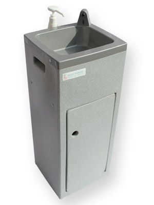 Teal Super Stallette portable hand wash unit for the beauty industry