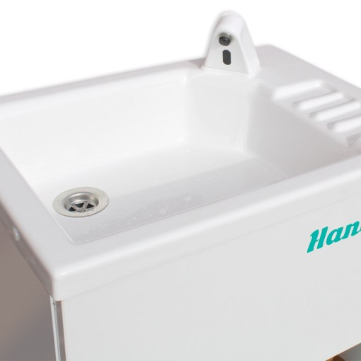 The basin of the HandSpa portable sink