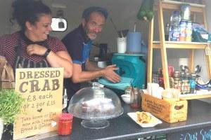 Five Star food hygiene rated Gower Sea Food Hut use Handeman portable sink for handwashing